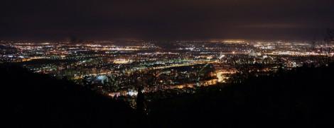 Panorámica de Bolonia desde la Colina de la Guardia