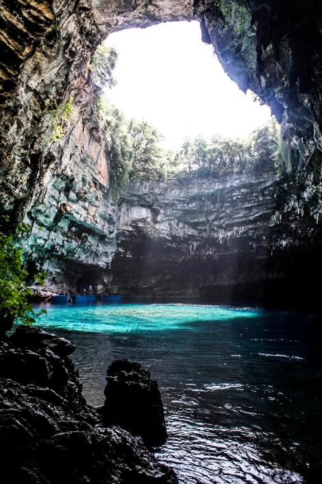 Interior de la Cueva Melissani