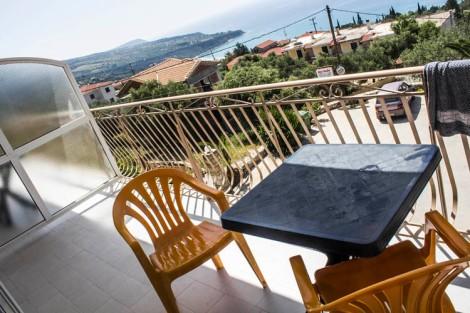 Balcón privado con vistas al mar
